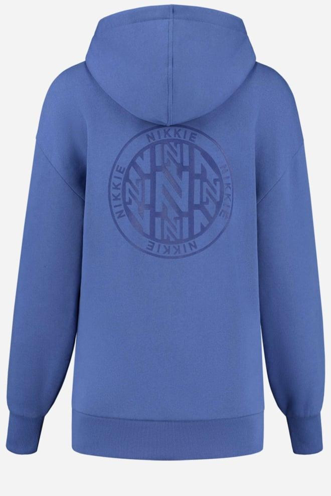 Nikkie round art hoodie blauw - Nikkie