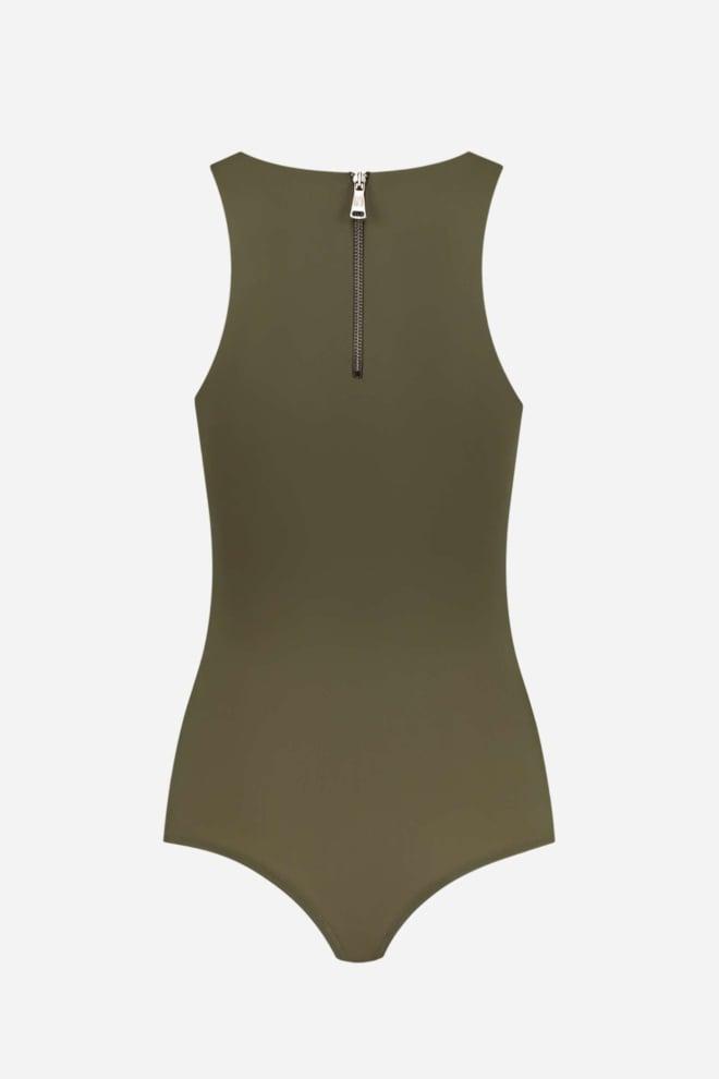 Nikkie suzy body zipper groen - Nikkie