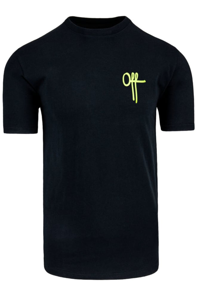 Off the pitch full stop tee black/neon - Off The Pitch