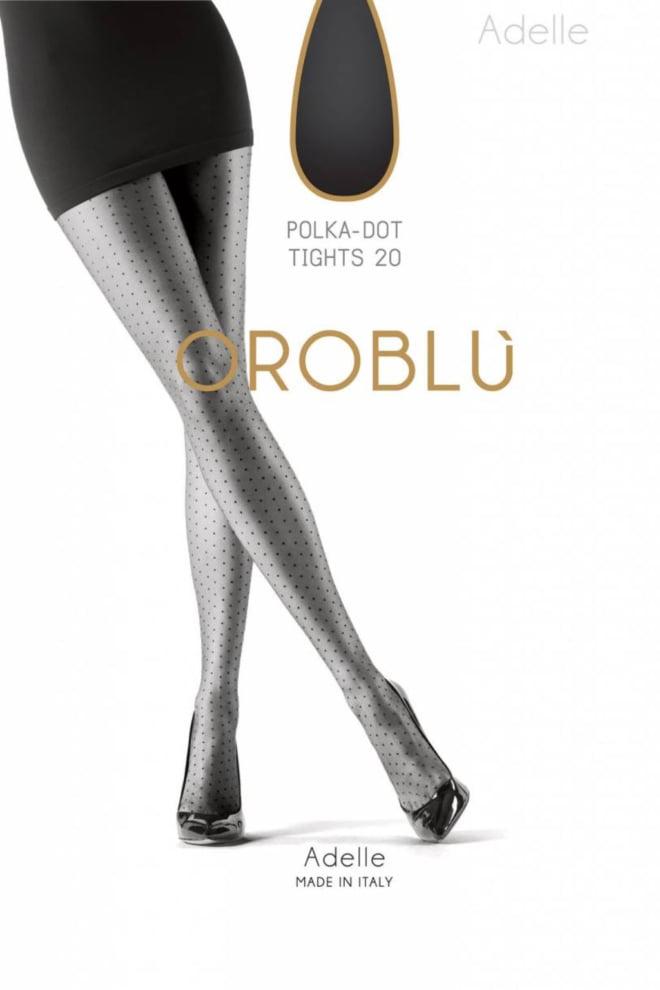 Oroblu adelle tights 20 den lycra zwart - Orobluandspanx