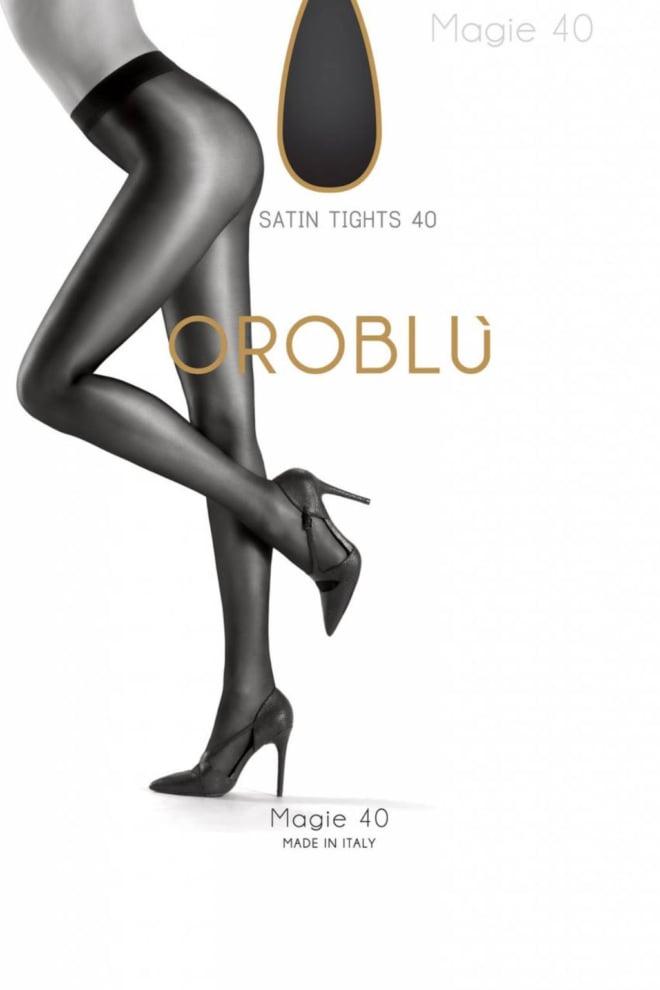 Oroblu magie 40 tight shine blauw - Orobluandspanx