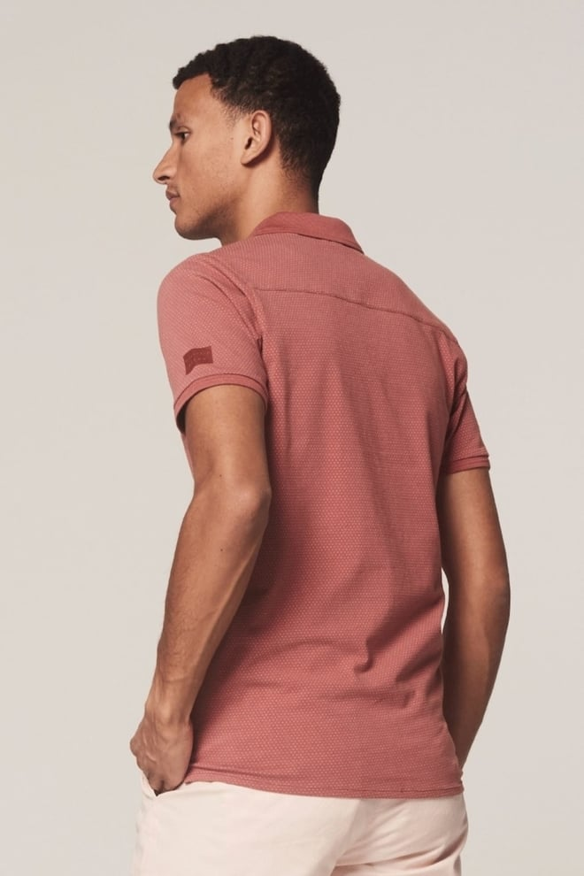 Dstrezzed polo mini dot oud roze - Dstrezzed