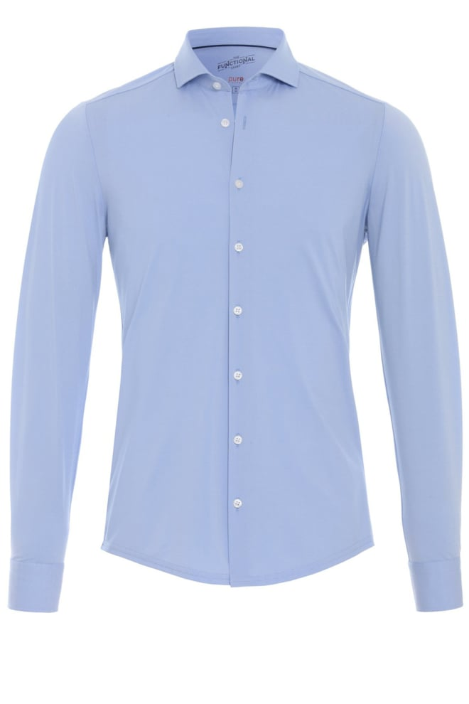 Pure hatico functional overhemd blauw - Pure-hatico