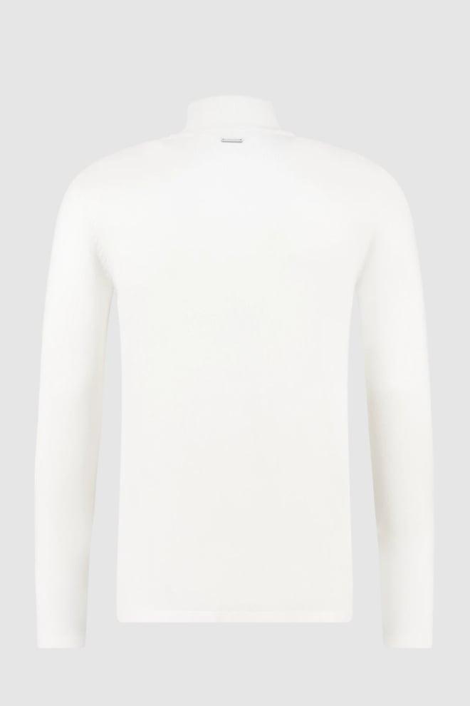Pure white essential knit turtleneck off white - Pure White
