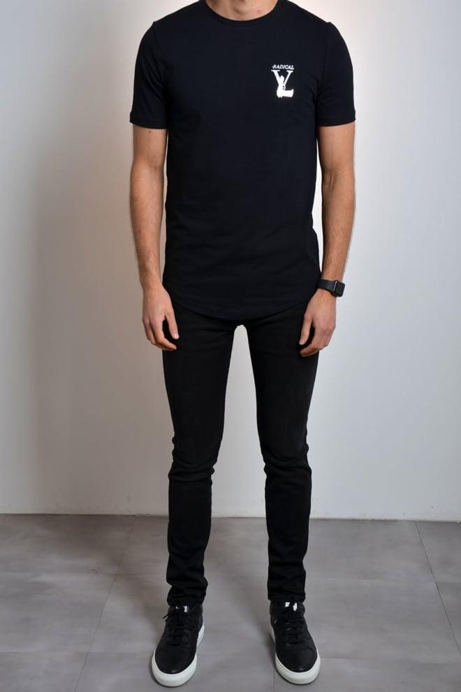 Radical t-shirt black silver - Radical