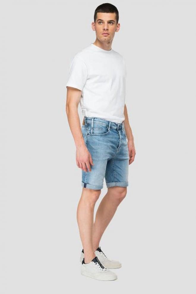 Replay bermuda denim shorts blue - Replay