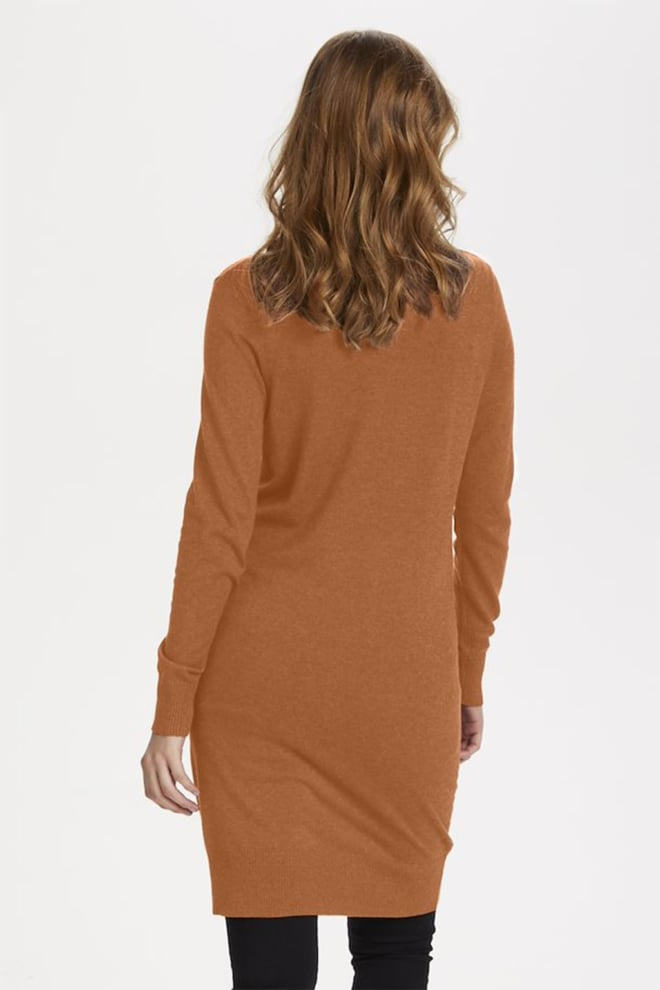 Saint tropez mila sz rollneck dress bruin - Saint Tropez