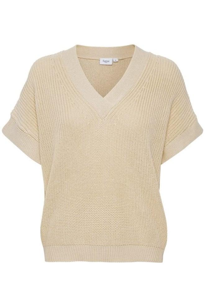 Saint tropez pullover vest creme - Saint Tropez