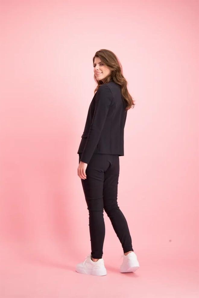 Studio anneloes bright bonded blazer zwart - Studio Anneloes