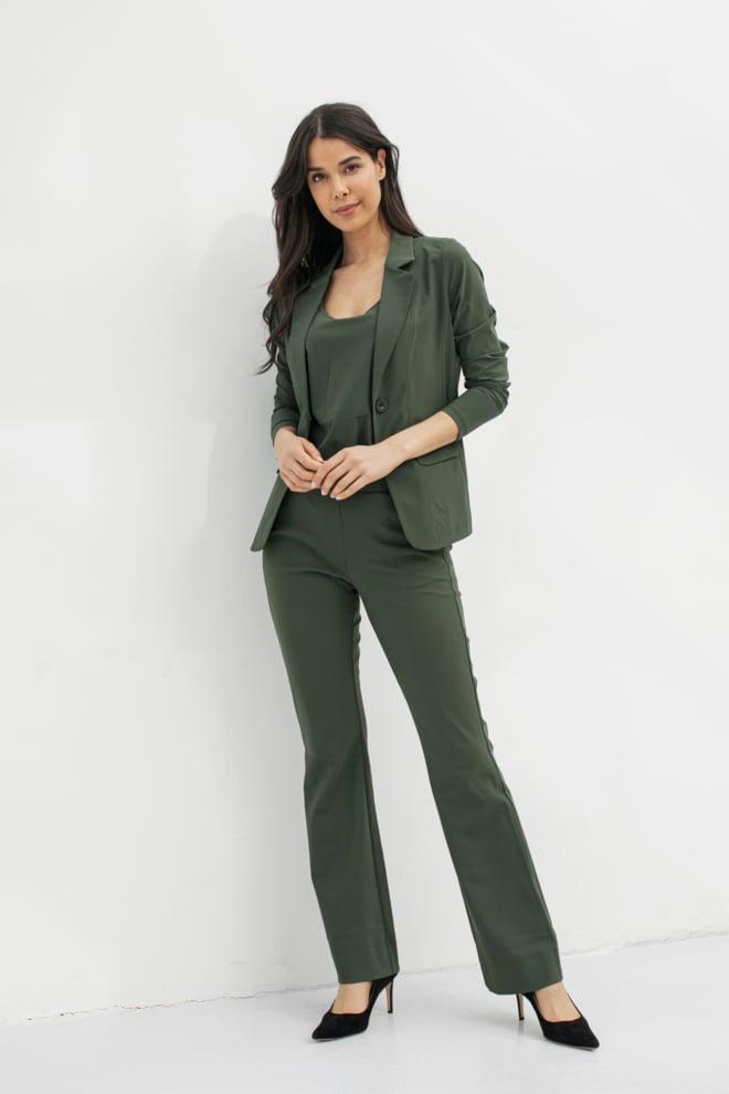 Studio anneloes clean blazer groen - Studio Anneloes