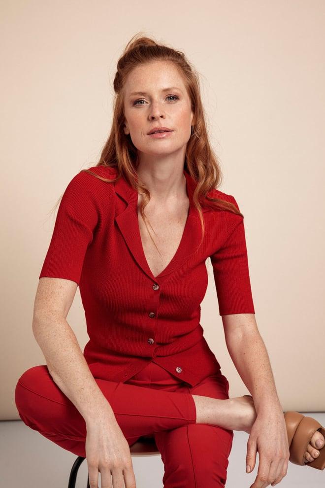 Studio anneloes kate trousers rood - Studio Anneloes