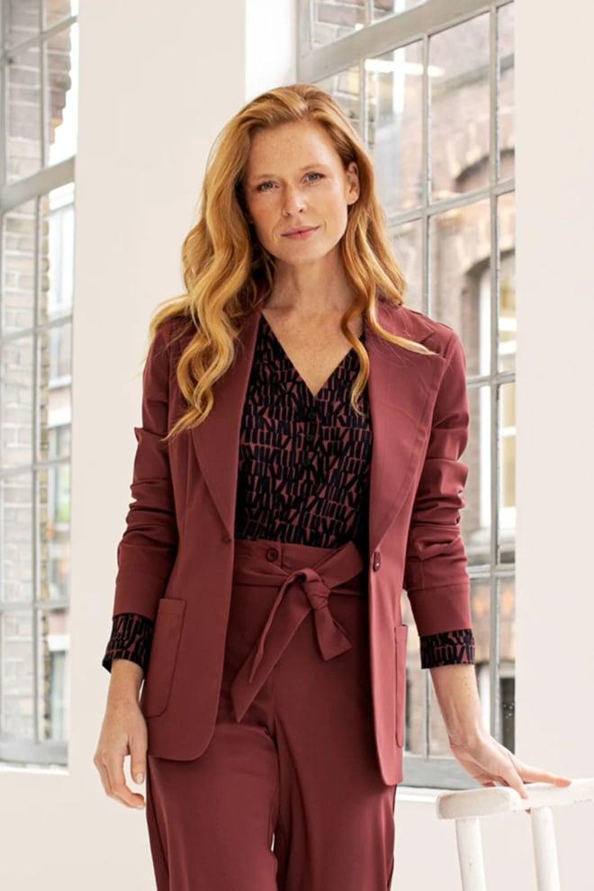Studio anneloes evi letter collar blouse rood - Studio Anneloes