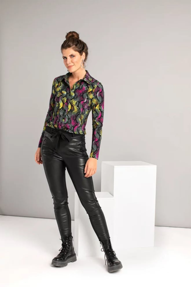 Studio anneloes margot leather trousers zwart - Studio Anneloes