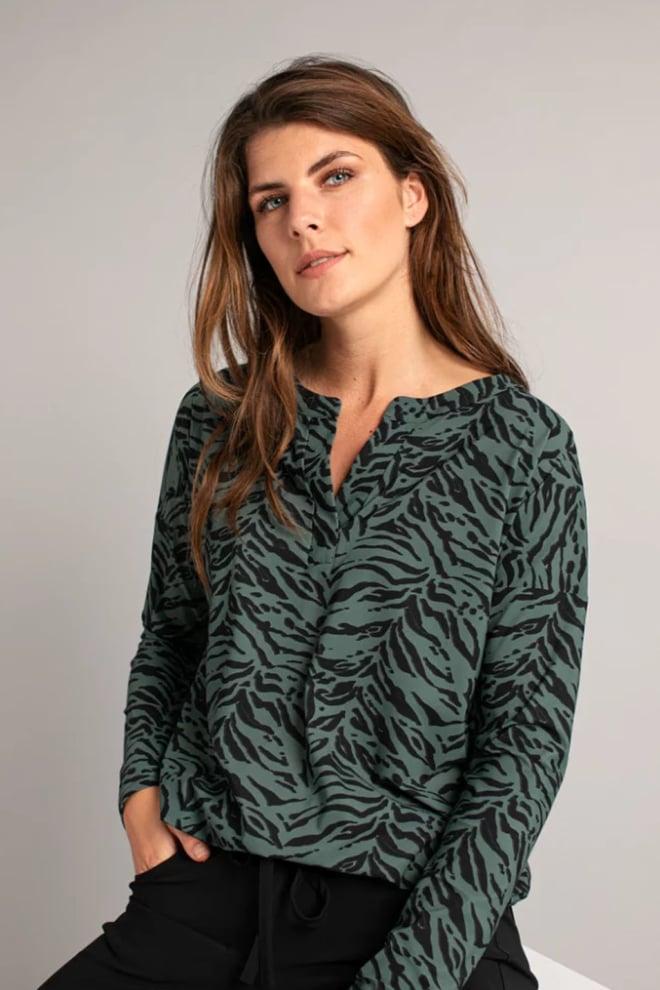 Studio anneloes merel blouse groen - Studio Anneloes