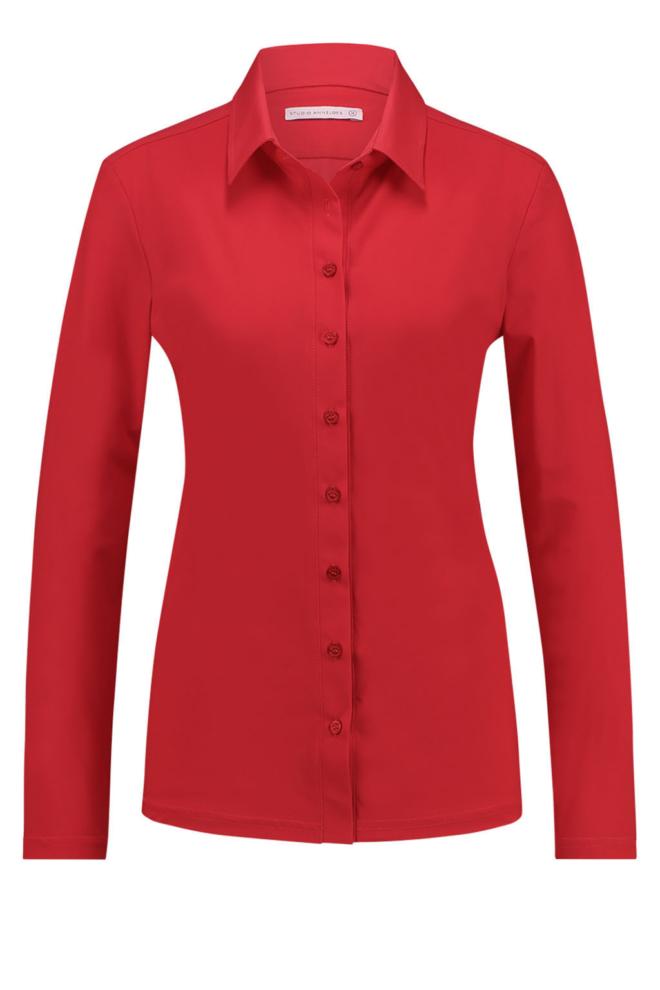 Studio anneloes poppy shirt deep red - Studio Anneloes