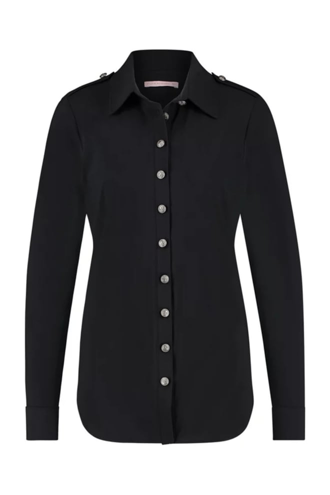 Studio anneloes poppy safari blouse zwart - Studio Anneloes