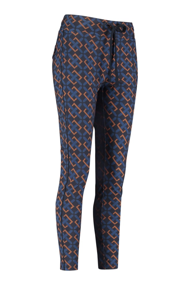 Studio anneloes road belt trousers blauw - Studio Anneloes