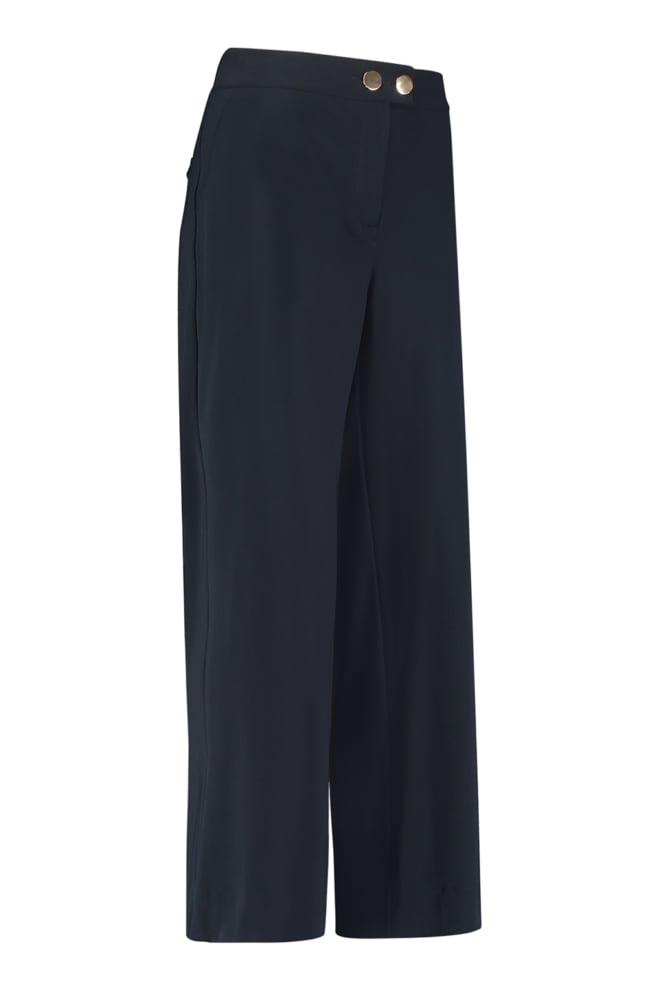 Studio anneloes senna button trousers dark blue - Studio Anneloes
