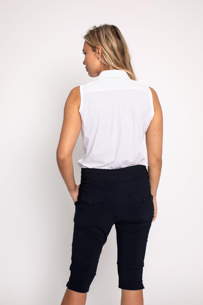 Studio anneloes upstairs capri trouser black - Studio Anneloes