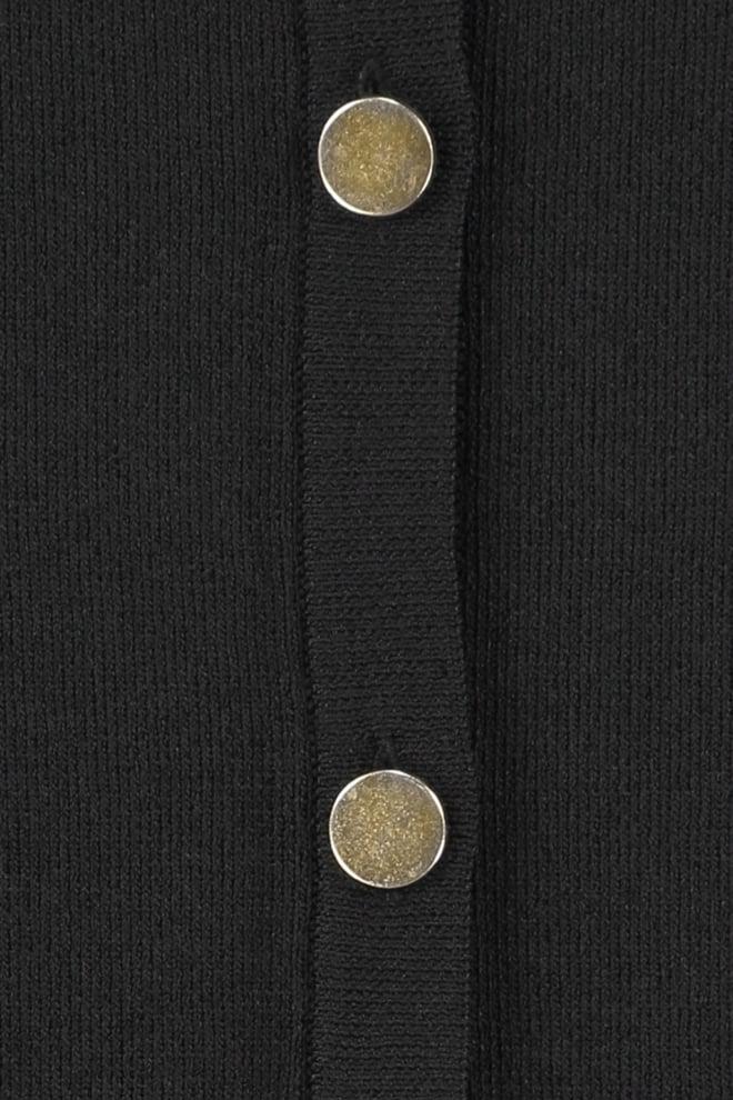 Studio anneloes koko button vest zwart - Studio Anneloes