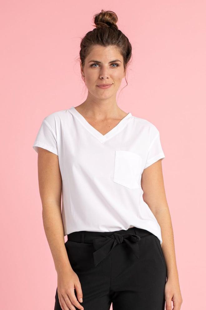 Studio anneloes roller short sleeve shirt wit - Studio Anneloes