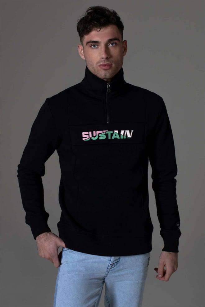 Sustain broken logo anorak sweater - Sustain