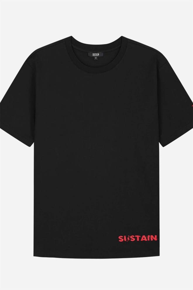 Sustain eyes boxy t-shirt black - Sustain