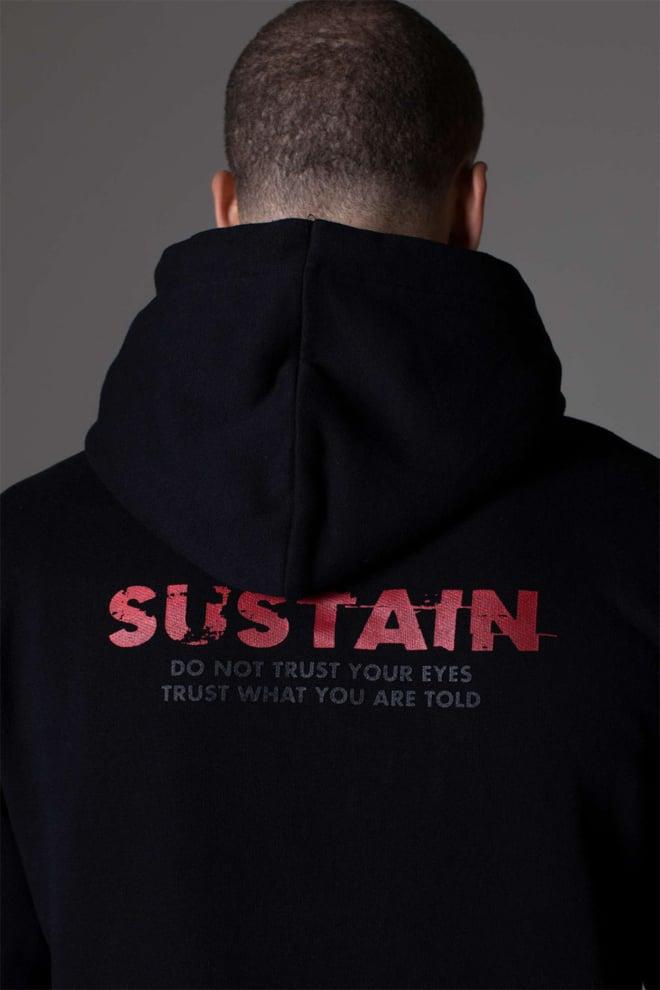 Sustain eyes loose fit hoodie - Sustain