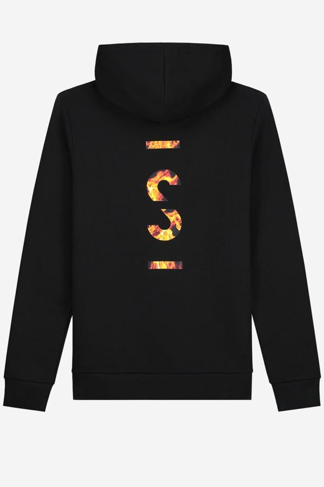 Sustain flame logo hoodie zwart - Sustain