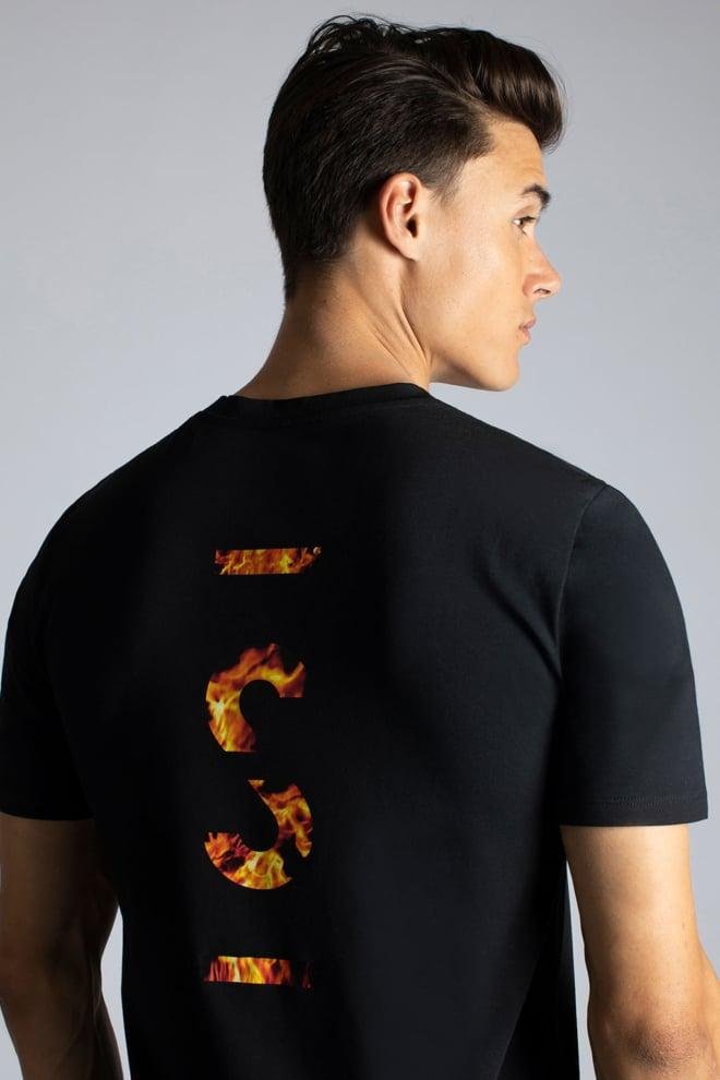 Sustain flame logo t-shirt zwart - Sustain