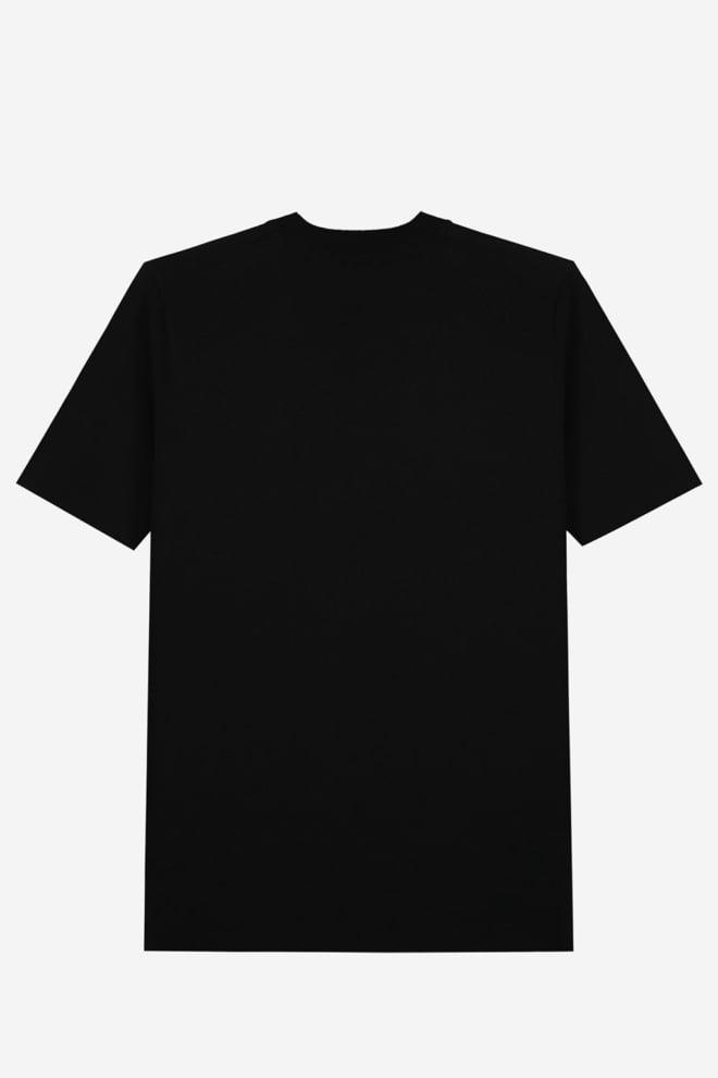 Sustain knitted logo t-shirt zwart - Sustain
