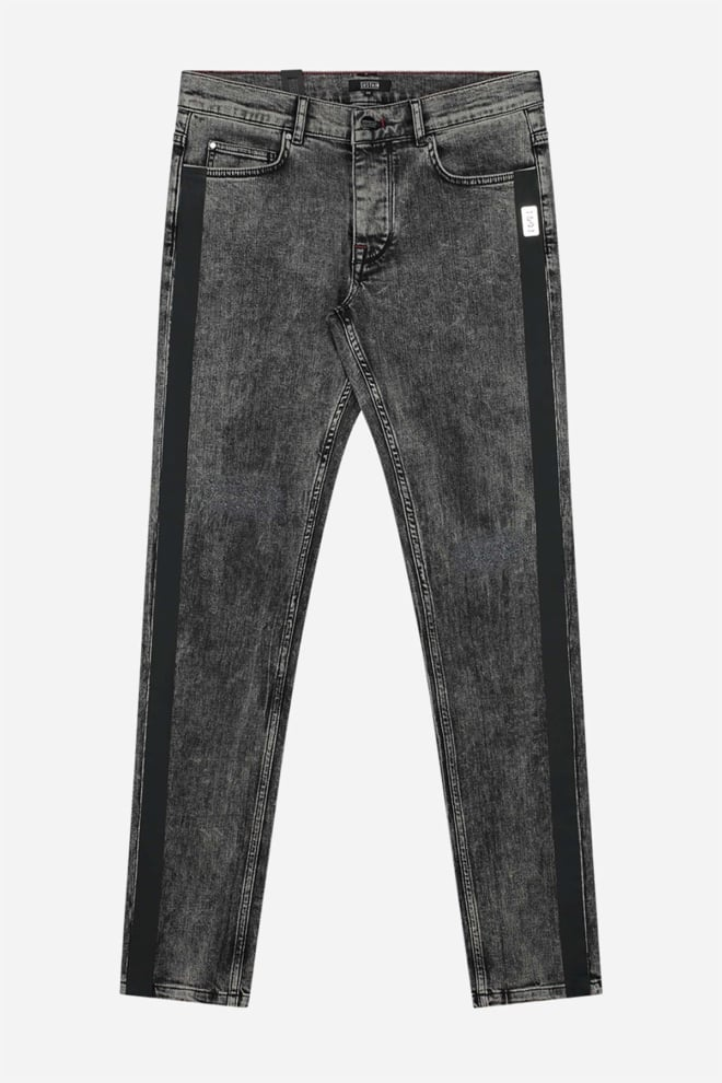 Sustain marbled destroyed denim broek - Sustain