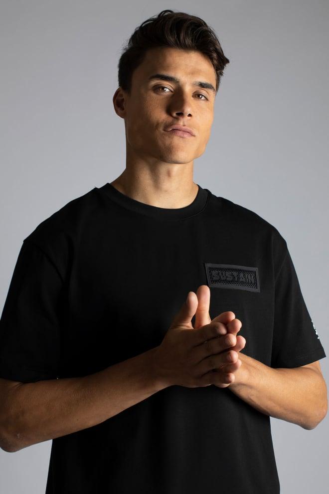 Sustain patch boxy t-shirt zwart - Sustain
