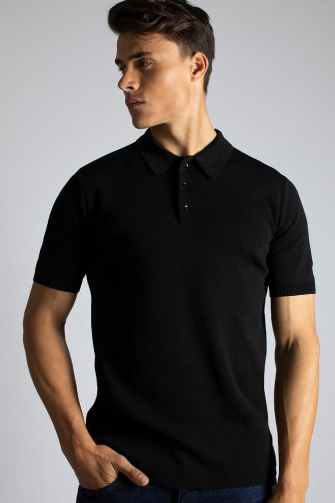 Sustain knit polo zwart - Sustain