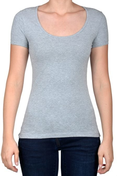 Light grey t-shirt women short sleeve