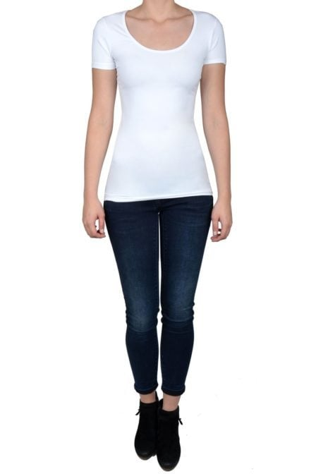 White t-shirt women short sleeve