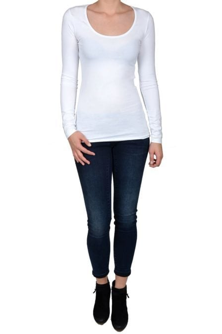White t-shirt women long sleeve