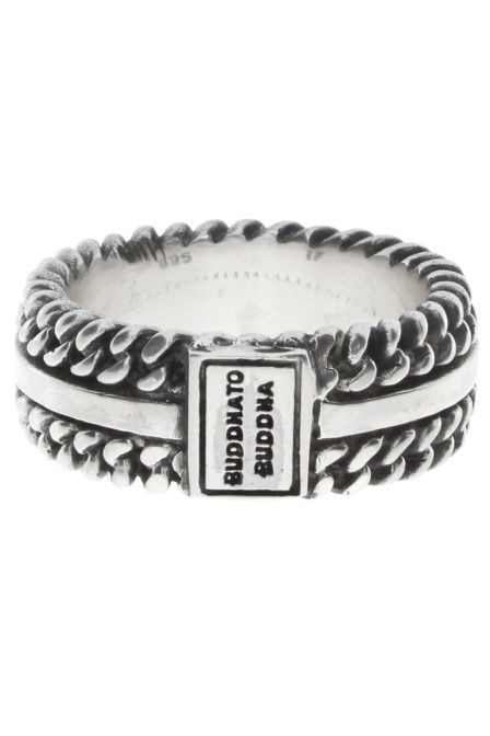 788 chain texture ring silver 09