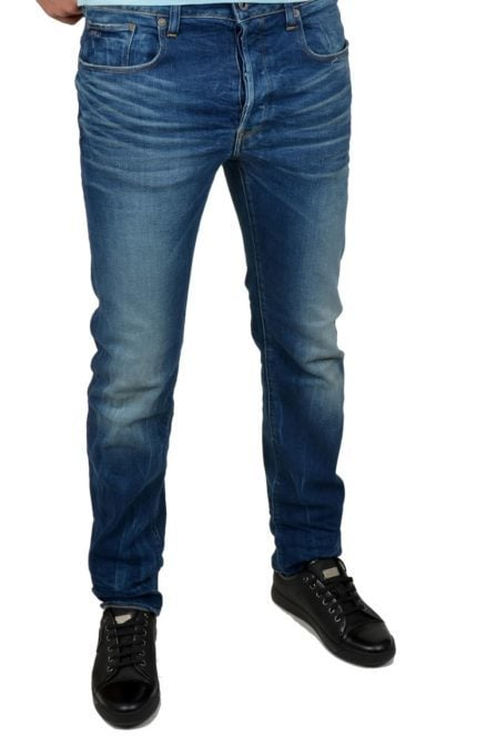 3301 straight vant stretch denim 89/dk.aged 012