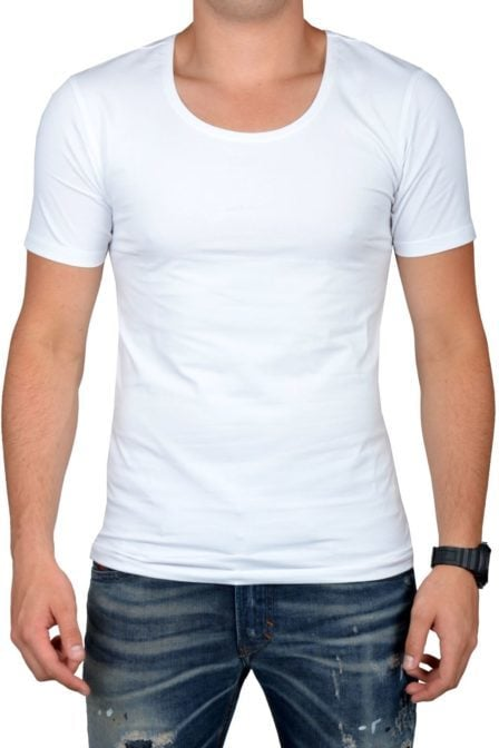 White t-shirt men o-neck