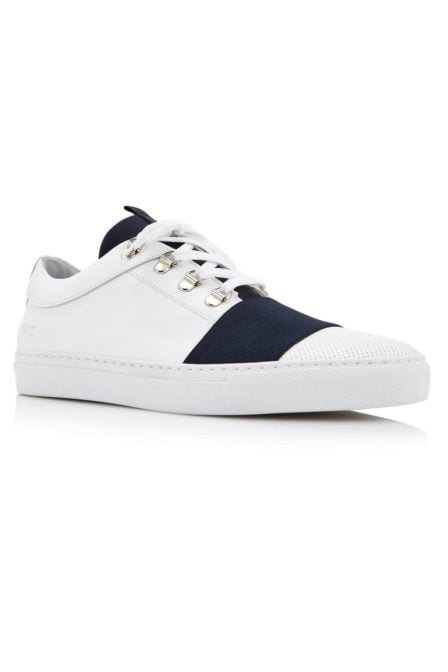 Jhay neo perfo white leather navy trim 013