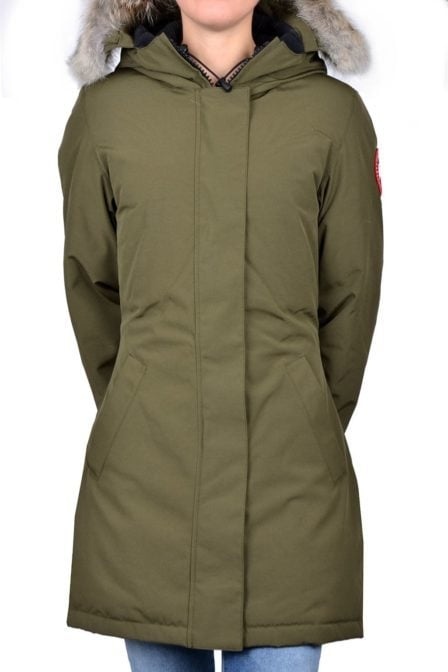 Ladies victoria parka military green 015
