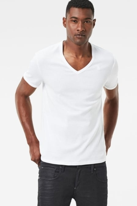 Basic v t-shirt 2-pack 110/white 016
