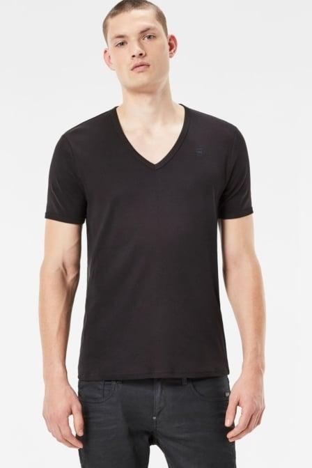 Basic v t-shirt 2-pack 990/black  016