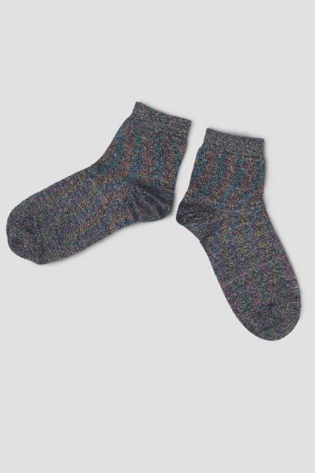 Pinned by k glitter socks multi blue