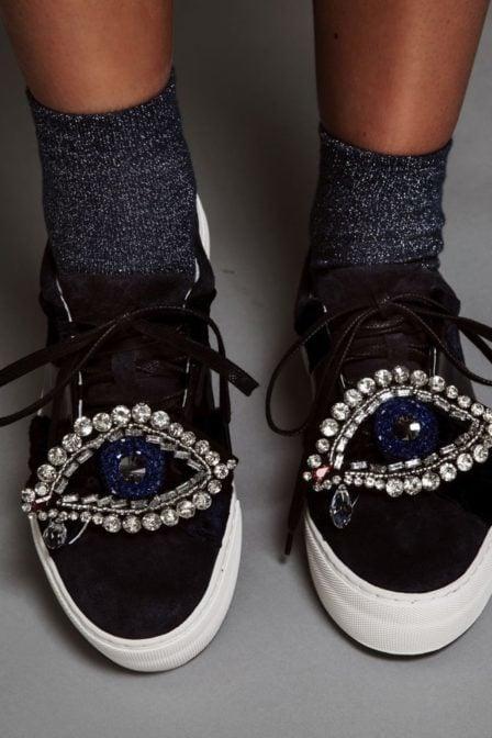 Pinned by k glitter socks dark blue