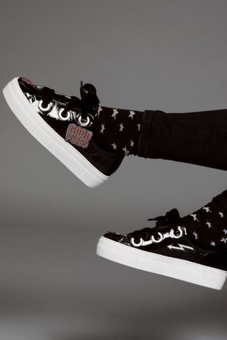 Pinned by k socks star silver