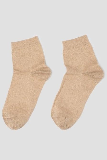 Pinned by k socks light gold