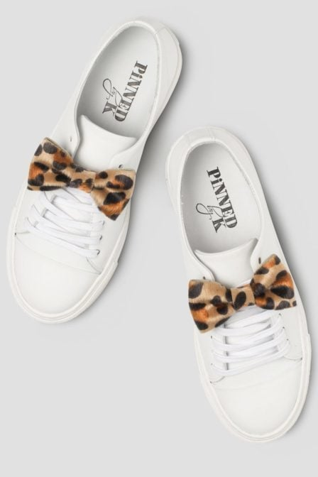 Pinned by k candy badge bowtie leopard
