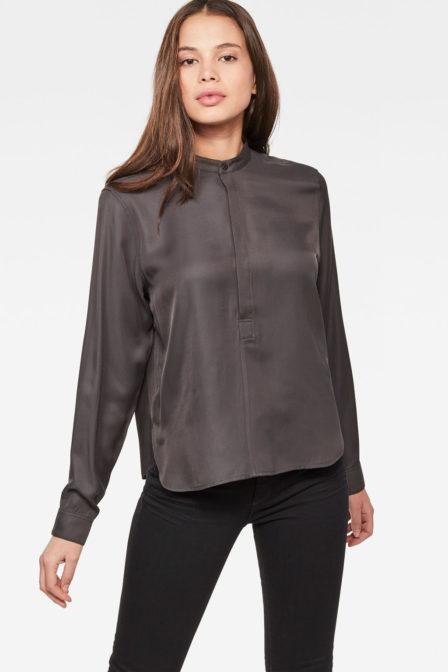 G-star raw road cropped shirt black
